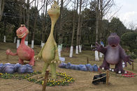 Amusement Park Family Combination Custom Fiberglass Products Hand Made Dinosaurs