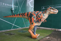 China Traje Animatronic realístico principal interativo do dinossauro de Brown para adultos empresa