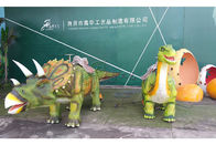 China Do passeio Animatronic do dinossauro do Triceratops borracha macia do silicone da pele empresa