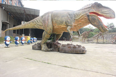 China Modelo realístico esculpido customizável do dinossauro da fase com som do dinossauro fábrica
